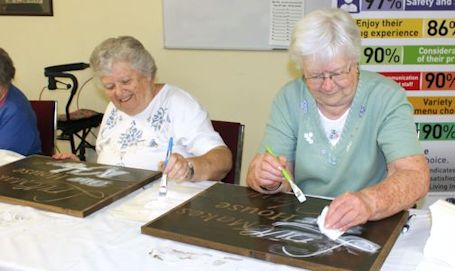 Sign Party at RVilla in Ripley is success, thanks to New Horizons grant