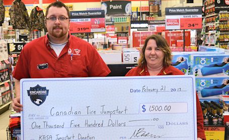 Kincardine Adult Soccer Association donates to Jumpstart program