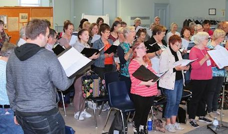 Kincardine Community Singers in rehearsals for Christmas concert Dec. 9-10