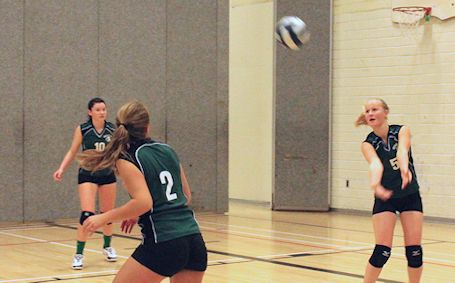 KDSS senior girls volleyball team downs Chesley, Walkerton