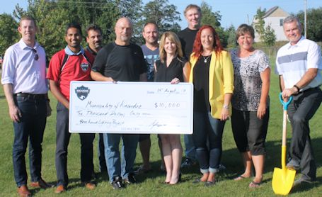 EMC, Kincardine break ground for new lights at soccer field